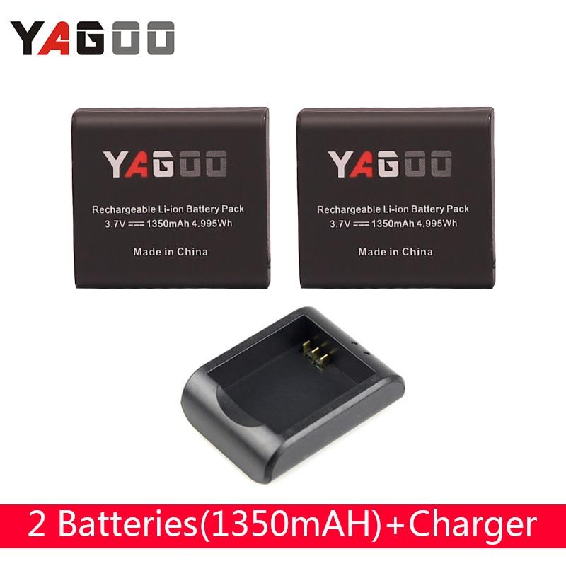 Yagoo 1350 mah li-ion Batterie USB Voyage Chargeur dock pour SJCAM sj5000, sj7000 SOOCOO F68 C10/C30 F68 Mini Action Sports caméra