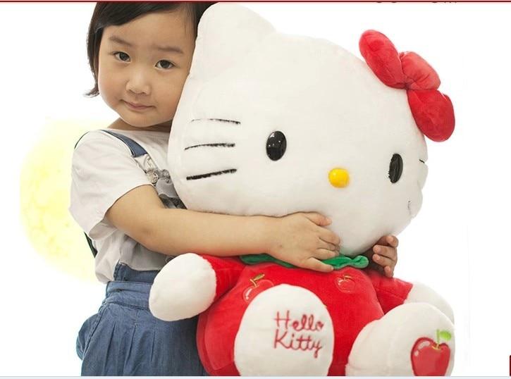 ФОТО NEW STuffed animal fruit red apple kt hello kitty  huge 56cm plush toy 22 inch soft Toy birthday gift wt41