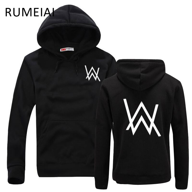 RUMEIAI Mode Hommes Shirts Musique DJ Divine Comédie Alan Walker Fané Manteau Sweat Shirts Hommes Pulls Marque vêtements