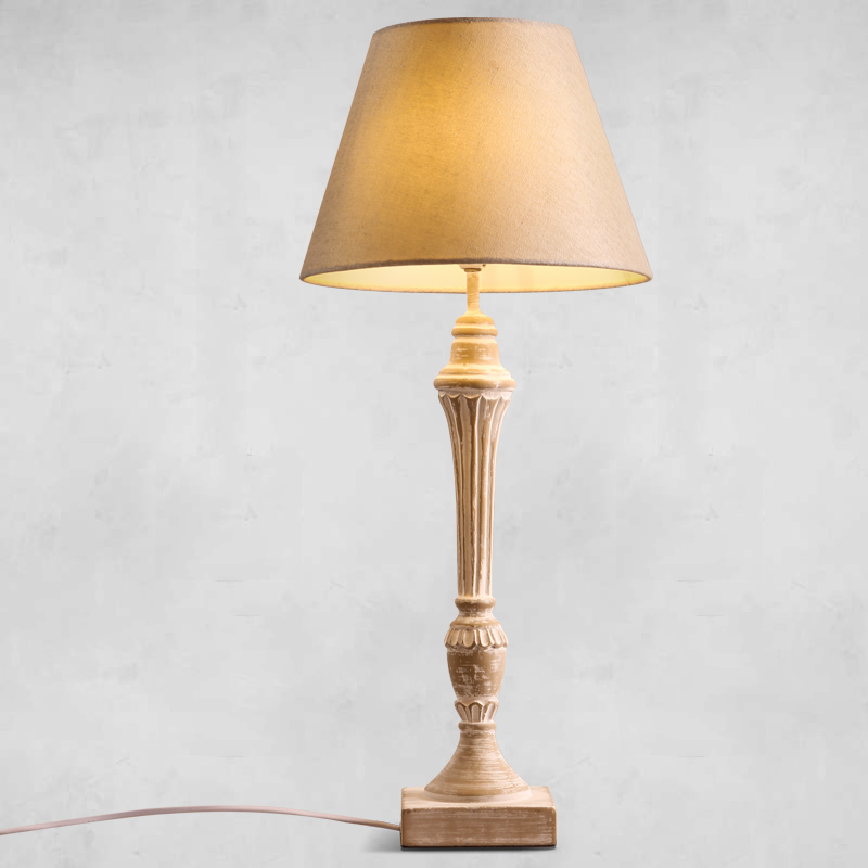 Американский Сад страна Ткань Настольные лампы в стиле ретро исследование прикроватная тумбочка для спальни украшения сделать старый деко...