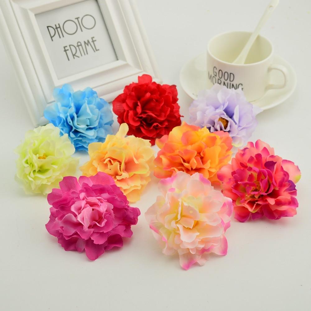 Big deal 10pcs 8cm cheap silk peony head artificial flower for home 10pcs 8cm cheap silk peony head artificial flower for home wedding flower wall decoration diy needlework izmirmasajfo