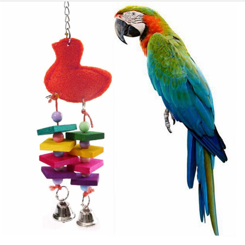 Parakeet Chew Toys : Pc colorful bird chewing toys cage swing bites pet parrot