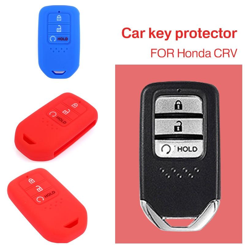 Автомобиль чехол для пульта дистанционного управления 3 кнопки мягкий пульт дистанционного Fob крышка Автомобильный ключ оболочки силиконовый чехол для ключей защита для Honda CRV