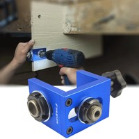 3 in 1 Pocket Hole Jig Kit 8/10/15 Drilling Dowelling Jig Set Woodworking Carpentry Dowel Drilling Guide Locator Tool
