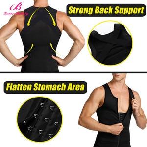 Image 2 - Lover Beauty Men Body Shaper Back Braces Tank Top Compression Shirt Tummy Trimmer Abs Slim Underwear Vest Girdle Tights