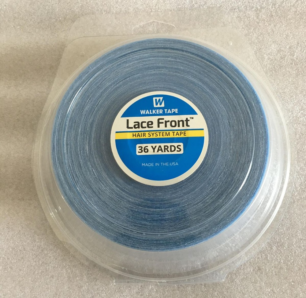 1 roll/Lot 36 yards Big roll Blue lace front wig tape toupee adhesive tape hair system tape width 1.0/1.27/2.54 cm1 roll/Lot 36 yards Big roll Blue lace front wig tape toupee adhesive tape hair system tape width 1.0/1.27/2.54 cm