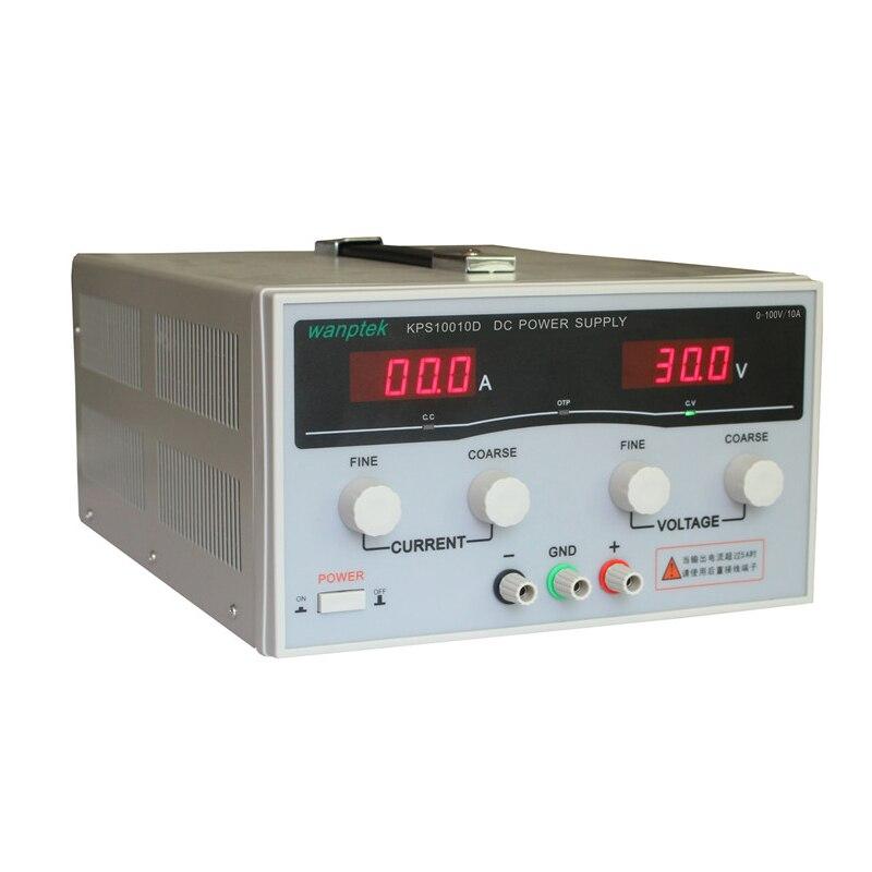KPS10010D haute puissance réglable commutation DC alimentation, 0 ~ 100 V 0 ~ 10A 110 V/220 V précision numérique DC alimentation US/EU/AU Plug