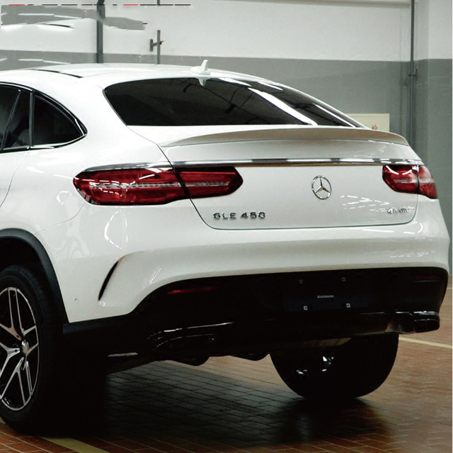 For Mercedes Benz Gle Coupe Gle320 Gle300 Gle400 Gle500 2017 2016 Abs Plastic Unpainted Rear Boot Trunk Wing Lip Spoiler