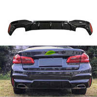 MP Style Real carbon fiber Rear Bumper Lip Protector diffuser 1pair set for BMW G30 G31 G32 5 Series M sport 2017up