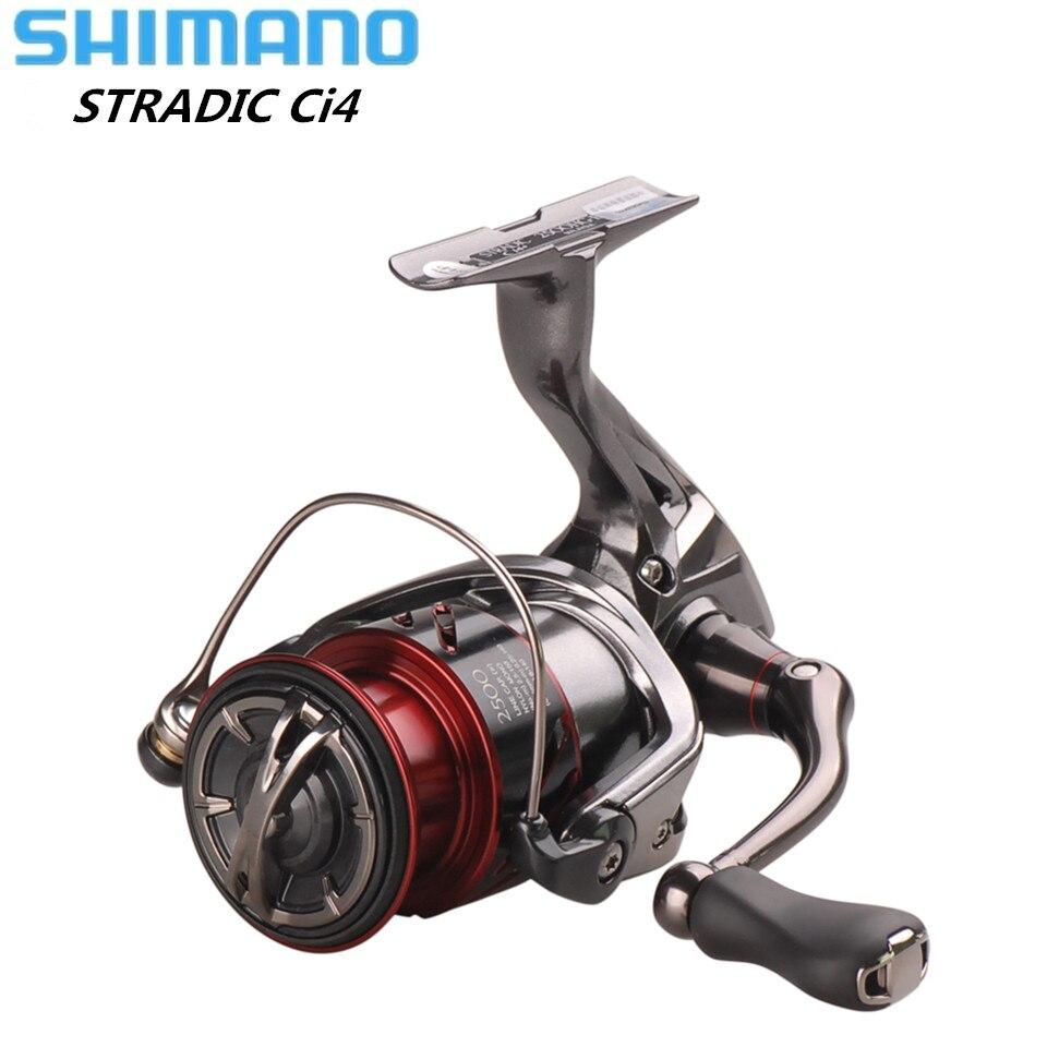 Original SHIMANO STRADIC CI4 + FB1000 1000HG 2500HG C3000HG rueca 6,0: 1 señuelo carrete de pesca de agua salada carpa trastos de pesca