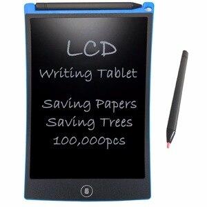 """Image 1 - NEWYES 8.5 """"الإلكترونية eالكاتب كمبيوتر لوحي LCD بشاشة للكتابة لوحة الرسم ورقة الرقمية الكتابة على الجدران أقراص المفكرة لوحة إعادة الكتابة (الأزرق)"""