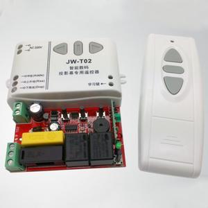 Image 5 -  T02 Draadloze Afstandsbediening + 315Mhz Front Controller Voor Elektrische Projector Schermen Elektrische Gordijnen/Toren Garagedeur