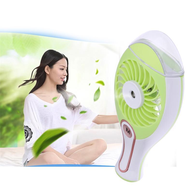 USB Water Spray Humidifier Fan Mini-Combo Small Fan Rechargeable Cool Mist Maker Humidifier Fans Air Condition couple fan usb small fan motor combo dual folding fan rotatable rechargeable portable mini fan