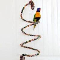 Pet Bird zabawka gryzak papuga kolorowa bawełniana zabawki sznurowe elastyczna papuga wspinaczka zabawki solidna ptak huśtawka uprząż rozmiar S, M, L, XL