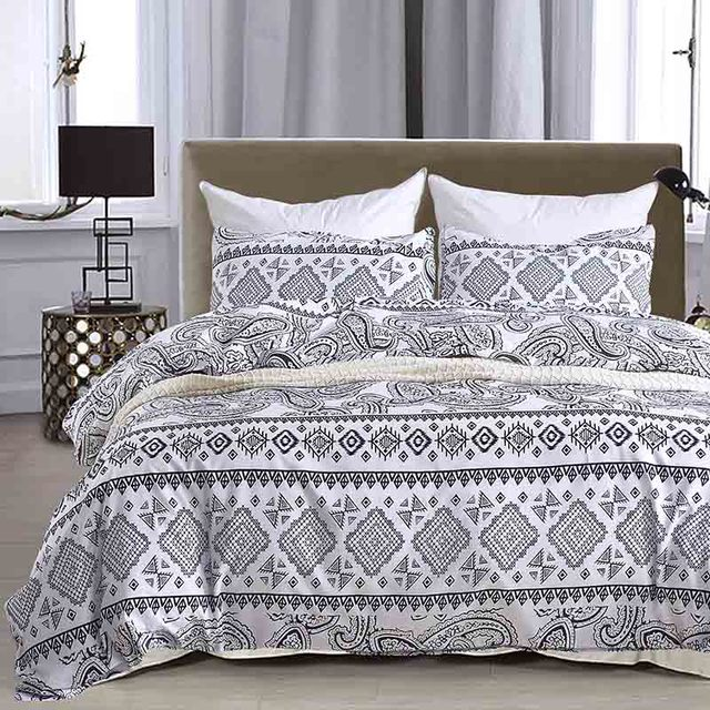 Microfiber Bedding Set Bohemia Style King Queen Twin Size Colorful Bed Cover Duvet Cover Pillowcases 3pcs/set Home Textiles