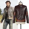 2017 новейший мотоцикл панк-стиль куртка для мужчин взрослых X-men Роган Косплей кожаная куртка мотоцикла мужчины зимняя куртка