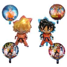 1pcs Cartoon Goku Foil Balloons 7 Dragon Ball Goku Inflatable Balloons happy Birthday Party Decorations Supplies