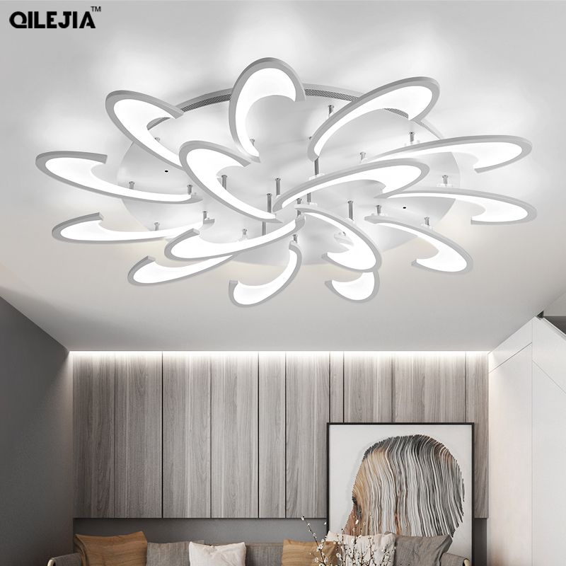 New Arrival LED Ceiling Chandelier For Living Study Room Bedroom Rectangle Modern Led Ceiling Chandelier Lamp Fixture Chandeliers     - title=