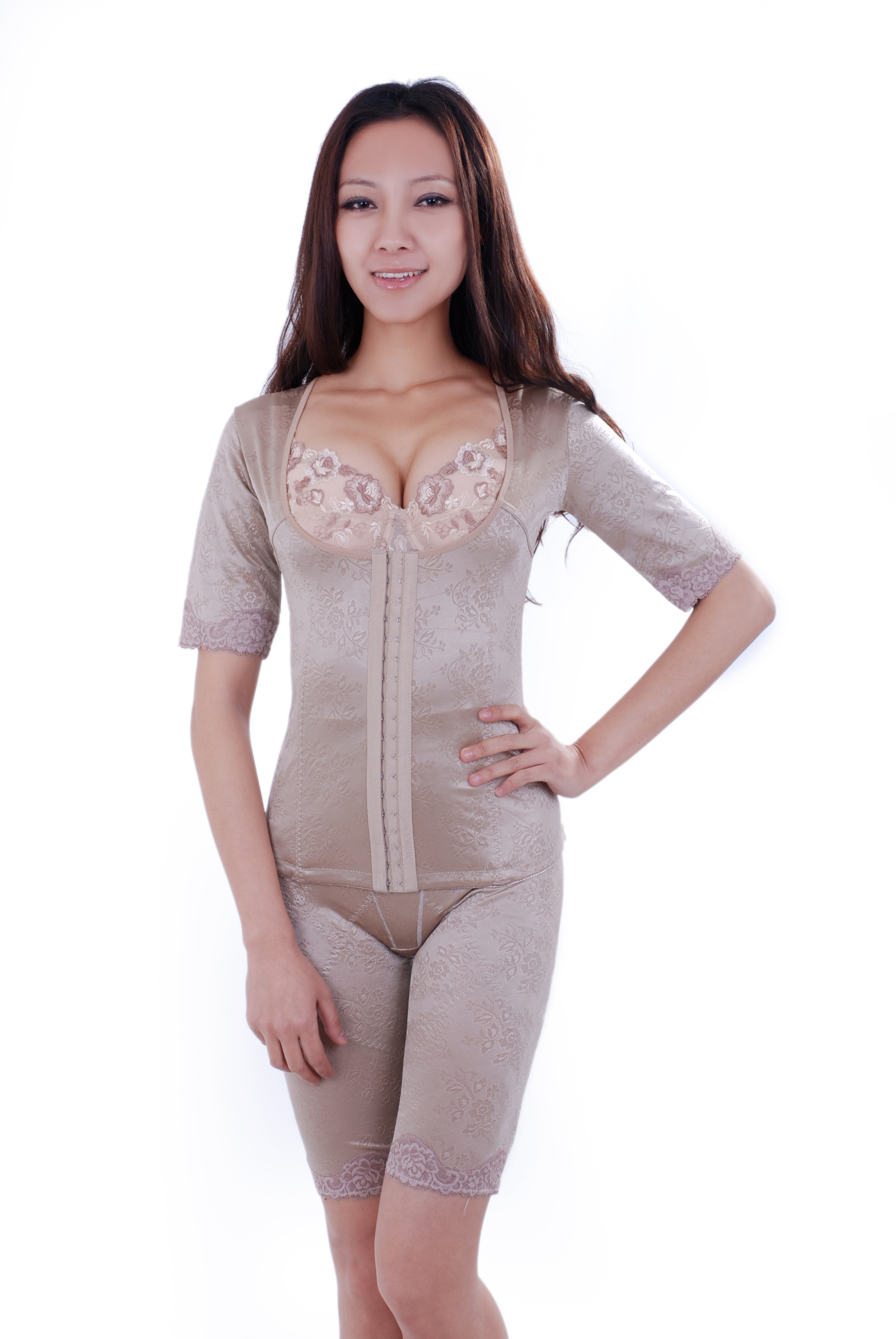 Femmes corps complet Shaper Split ensemble grande taille sous-vêtement mince Body Spandex bras bout à bout avec contrôle du ventre