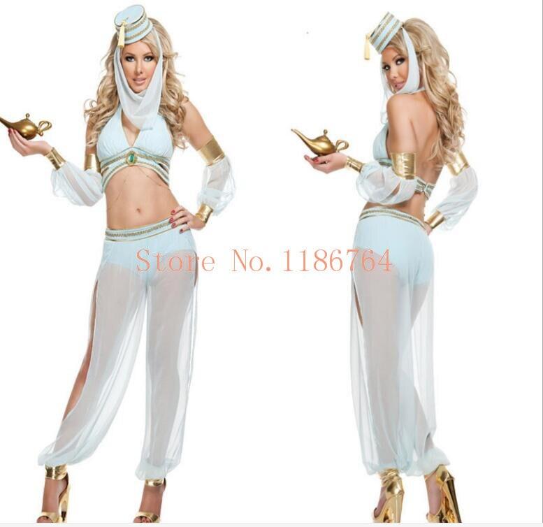 4bea063a6 Aladdin Princess Jasmine Costume Adults Women Belly Dance ...