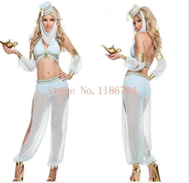 22347da60ee6 Plus Size XL Sexy Princess Jasmine Costume Adults Women Belly Dance  Performance Arab Costume Carnival Halloween Costumes