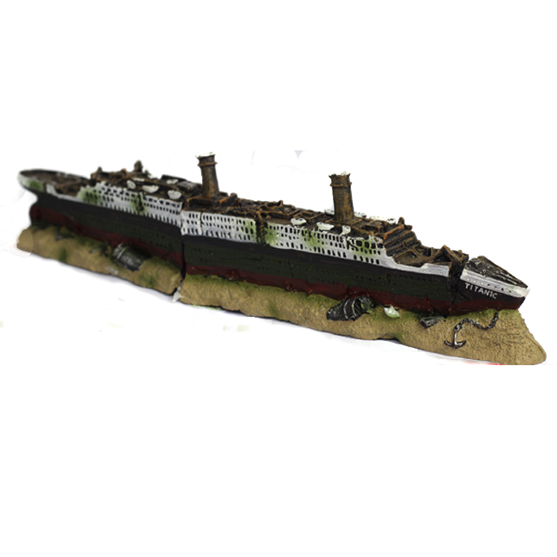 Buy titanic lost wrecked boat ship for Aquarium decoration ship
