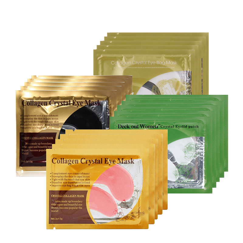 10Pcs=5Pack Eye Serum Collagen Crystal Mask Gel Pads Anti-Wrinkle Patches for Eye Care Anti-puffiness Eyelid Patches Eye Essence jayjun green tea eye gel patches