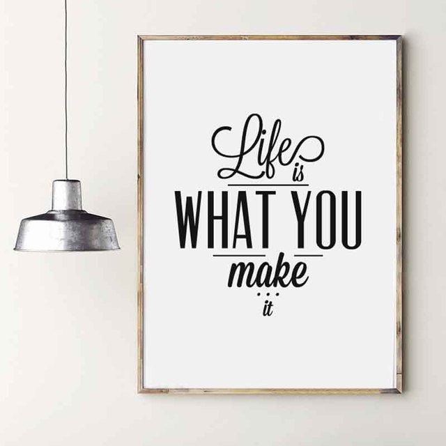 Nordic Typography Minimalist Life Quotes Life Is What You Make It