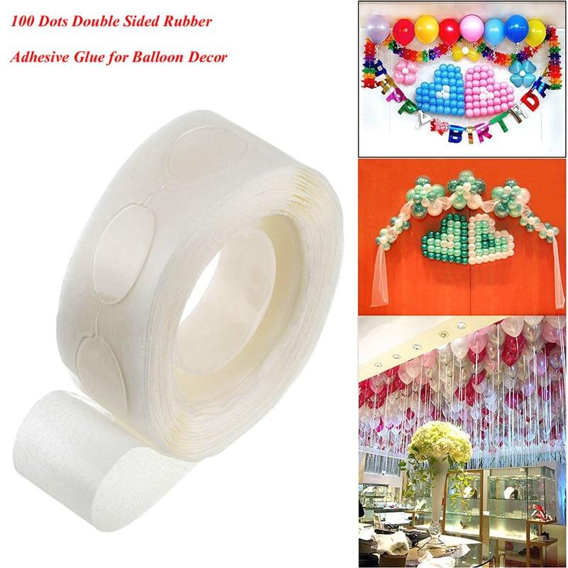 100 точек/1 рулон супер липкий двусторонний клей для резины для декора воздушных шаров DIY Бесплатная доставка