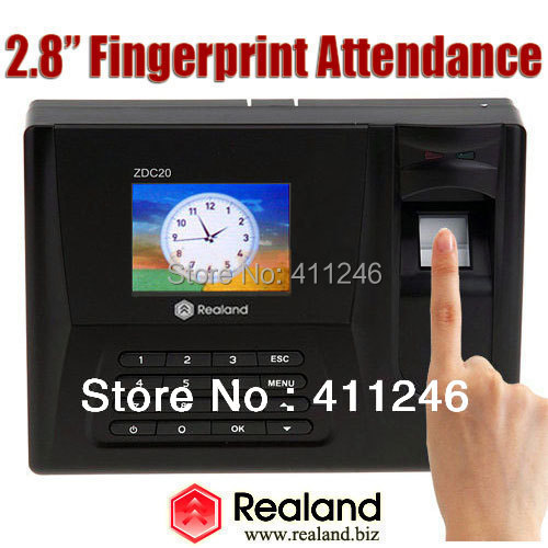 Realand Biometric Fingerprint Rfid Punch Card Usb Time