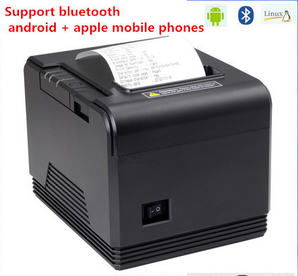 2016 new Bluetooth barcode printer 80mm thermal receipt printer Q200 small ticket bar code automatic cutter