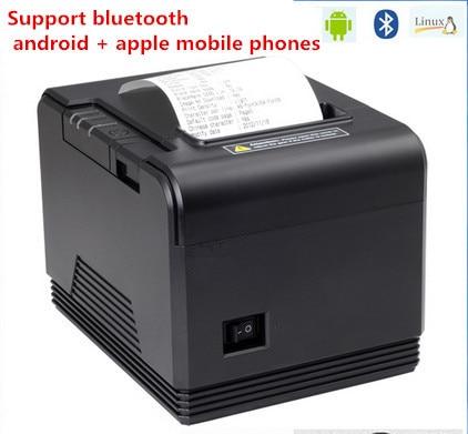 все цены на 2016 new Bluetooth barcode printer 80mm thermal receipt printer Q200 small ticket bar code automatic cutter support Andrews онлайн