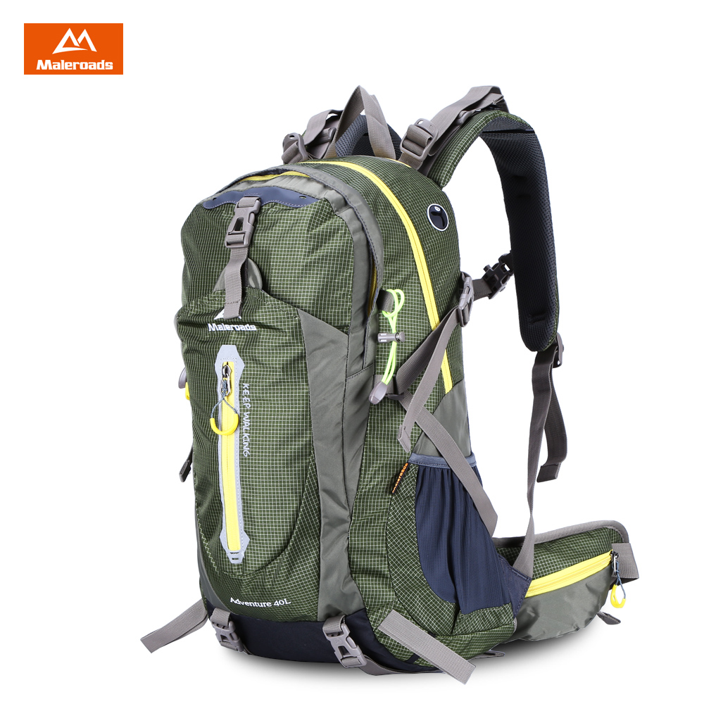 Maleroads 40L Unisex Outdoor Backpack With Rain Cover Hiking Camping Backpack Waterproof Nylon Bag Rucksack Trekking Backpack maleroads 40l travel rucksack camping hiking backpack waterproof outdoor sport backpack climbing bag trekking rucksack men women