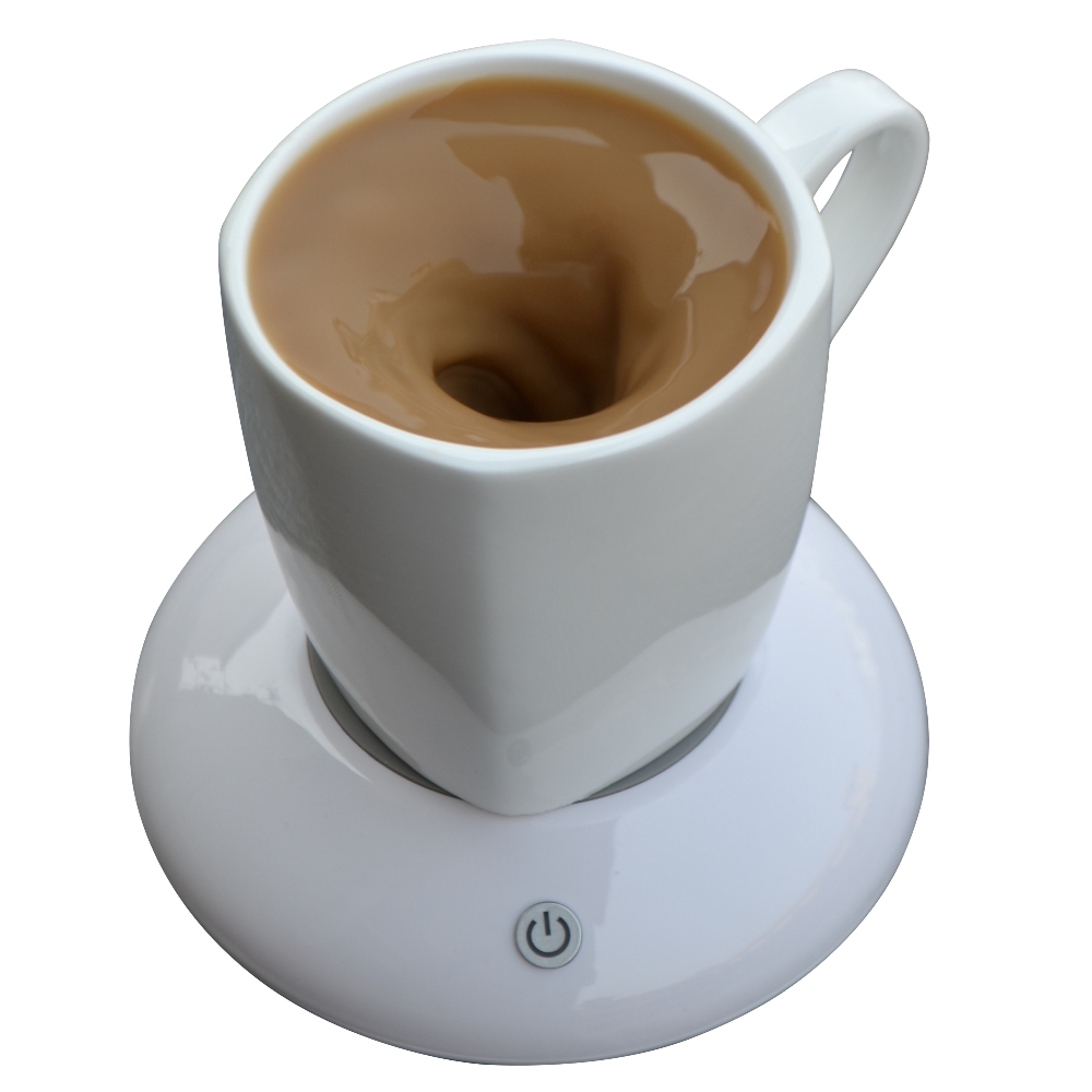 200ML Ceramic Vortexes MUG Drinkware USB Charge Automatic Mixing Coasters Magnetic Stirrer Office Home Milk Coffee