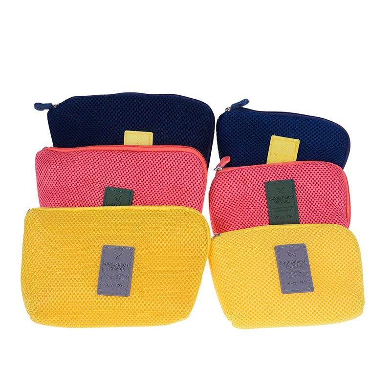 1PCS Size S/L Multifunction Purse Box Travel Makeup Cosmetic Bag Toiletry Case Pouch Organiser Bag 3Colors