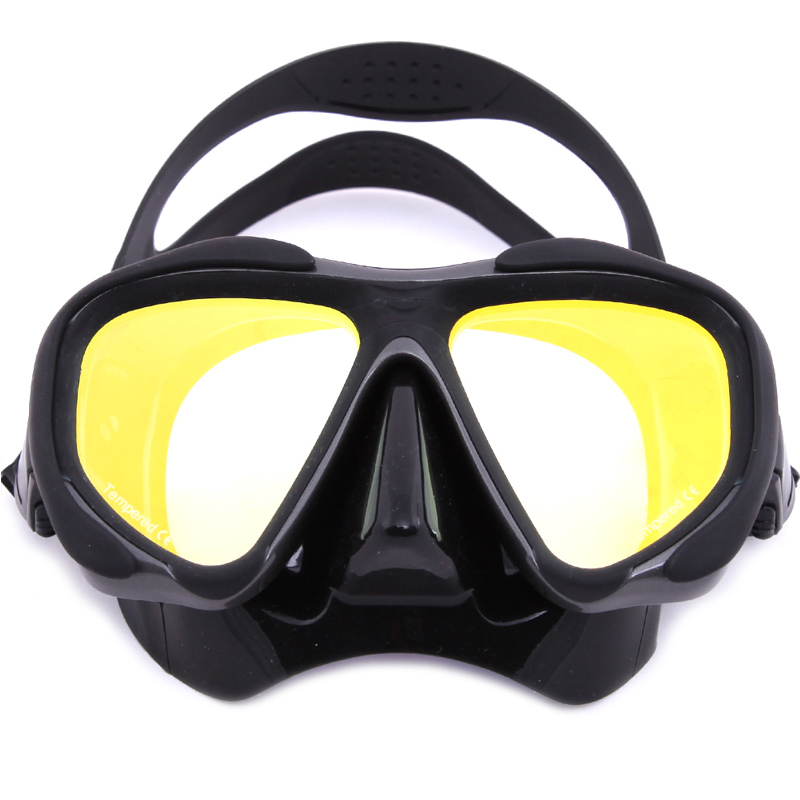 Whale Brand Professional Mirrored Scuba Diving Mask Goggles Tempered Mirrored Lens Glass  5 Color Glass Mmk-2600