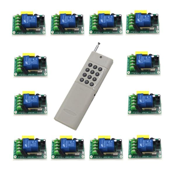 Commutateur de télécommande sans fil 220 V 30A transmetteur monocanal avec Module récepteur 1000 mètres 12CH télécommande 4359