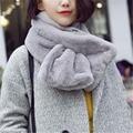 Fashion Women Scarf Imitation Rabbit Fur Collar Plush Thickening Small Collars New Warm Winter Scarfs Wrap Shawl For Lady