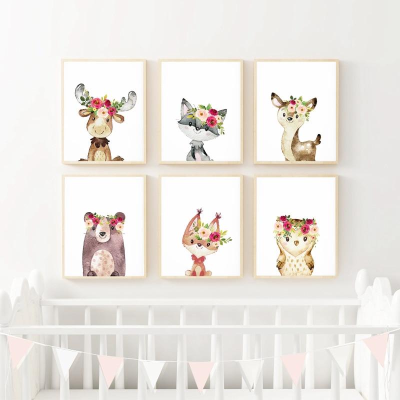 Watercolor Baby Animals Print