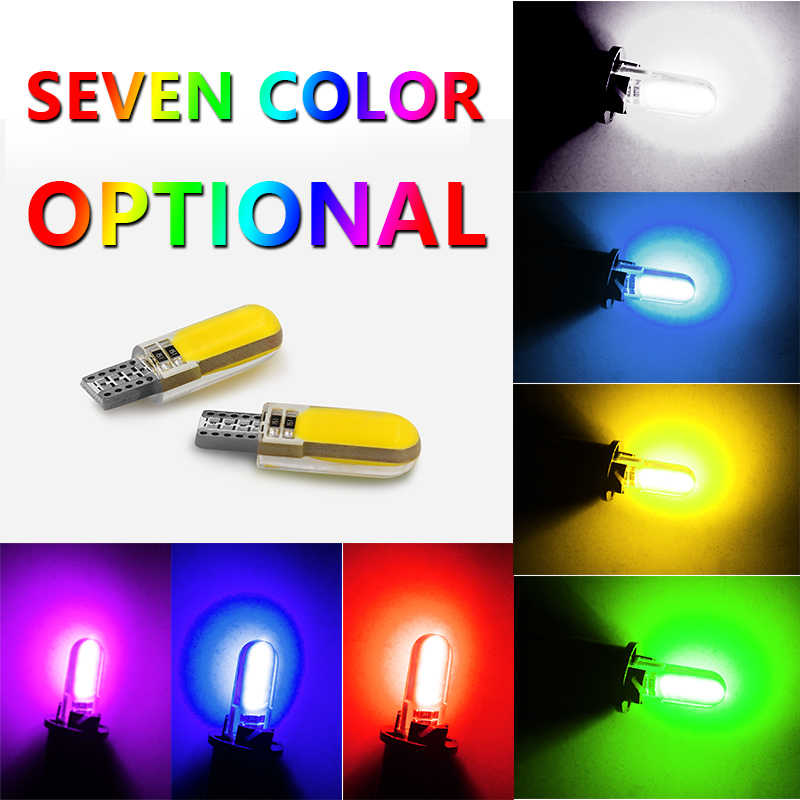 1 Pcs T10 W5W LED Mobil Interior COB Marker Lampu 12 V 168 194 501 Sisi Wedge Parkir Bulb CANbus Auto Auto Styling Aksesoris