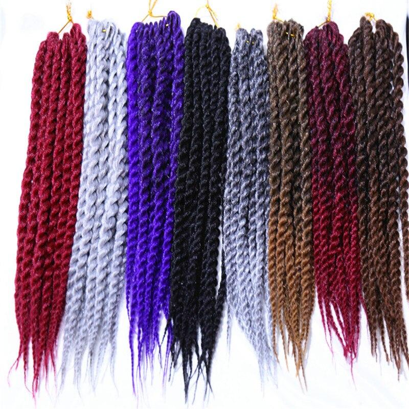 6packs Feibin Twist Crochet Braids Jumbo Braiding Hair Extension For Black Women Synthetic Afro Hair 14 18 24 inch 4