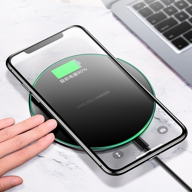 10W/5W Qi Wireless Charger For iPhone 8 X Xr XS MAX Fast Charging For Samsung S9 S8 Quick Charge Pad Universal for Xiaomi Phone