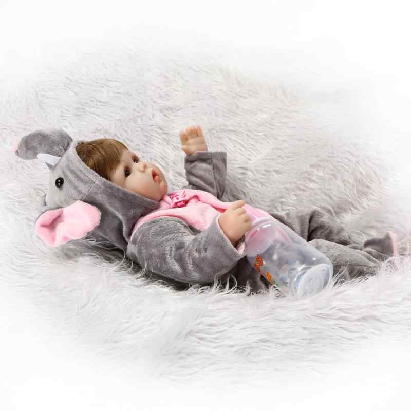NPK סיטונאי חמודה reborn בובה ויניל סיליקון רך נדל מגע יפה תינוק צעצועים הטובים ביותר ומתנה לילדים