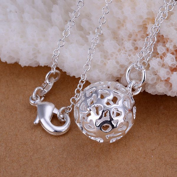 Free Shipping 925 jewelry silver plated Jewelry Pendant Fine Fashion Cute Small solid ball Necklace Pendants Top Quality CP174
