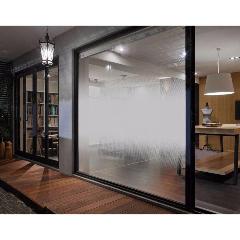 Autocollant en verre décoratif auto-adhésif 1.52x2 m de Film de fenêtre de Gradient bidirectionnel de point blanc