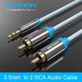 Vention black blue 2RCA to 3.5mm Male aux cable Gold Plated 3.5 jack RCA audio cables headphone aux jack splitter for iphone
