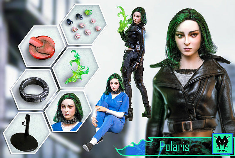 Full Set 1/6 The Gifted Lorna Dane Polaris Magnetic Magneto daughter Female Figure Collection Toys  Action Figure 1
