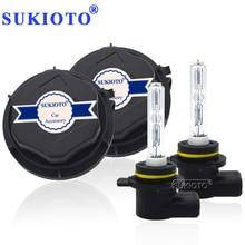 SUKIOTO 車のヘッドライト 9012 HIR2 キセノン CANBUS キット 55 ワット H1R2 9012 6000 k hi/lo bixenon プロジェクター電球エラーなしエッジ HID ヘッドランプ