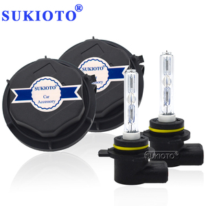 Image 1 - SUKIOTO Car Headlight 9012 HIR2 Xenon CANBUS Kit 55W H1R2 9012 6000K hi/lo bixenon Projector bulbs NO Error Edge HID Headlamp