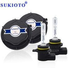 SUKIOTO faro delantero de xenón para coche, Kit CANBUS HIR2 9012, 55W, H1R2, 9012 K, bombillas para proyector hi/lo, Bixenón, sin Error